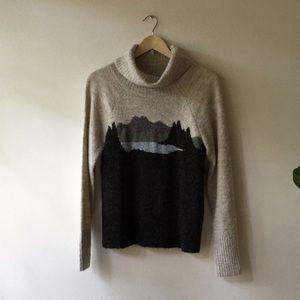 XS L.L. Bean landscape sweater